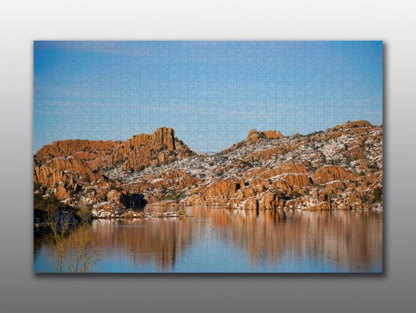 watson lake and the dells with snow - Moment of Perception Photography