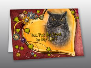 Great Horned Owl Valentine Card - Moment of Perception Photography
