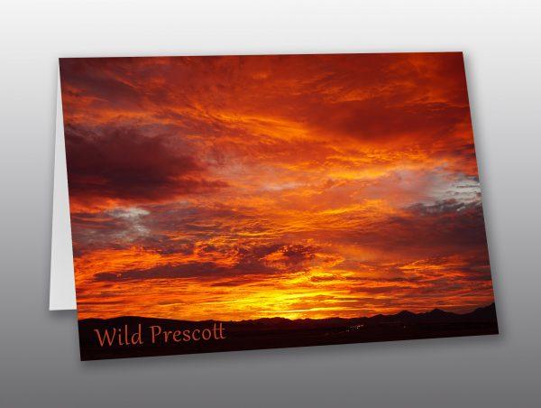 fiery Arizona sunset - Moment of Perception Photography