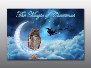 great horned owl christmas - Moment of Perception Photography