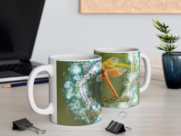 Smiling Dragonfly Valentine mug - Moment of Perception Photography