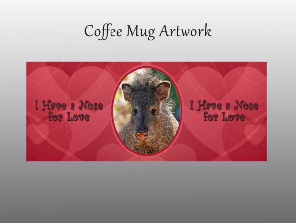 Javelina Valentine Mug - Moment of Perception Photography