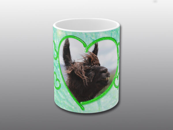 Llama Valentine Mug - Moment of Perception Photography