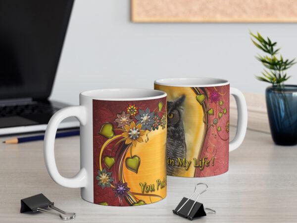 Great Horned Owl Valentine Mug- Moment of Perception Photography