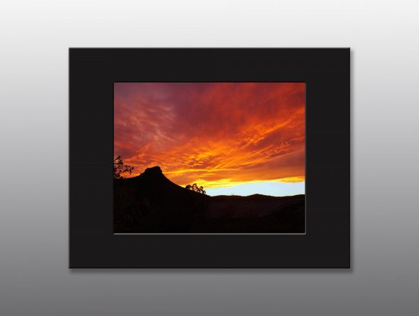 sunset over Thumb Butte - Moment of Perception Photography