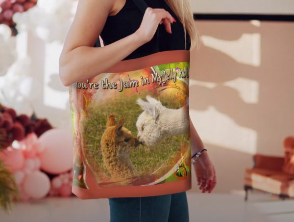 Baby Alpacas Valentine Tote - Moment of Perception Photography