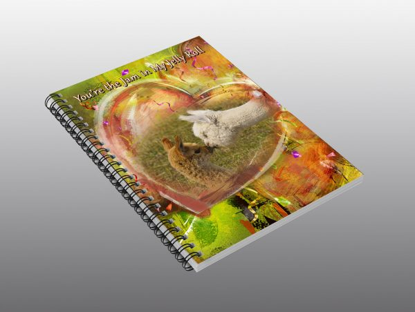 Baby Alpacas Valentine notebook - Moment of Perception Photography