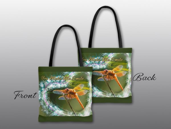 Smiling Dragonfly Valentine Tote - Moment of Perception Photography