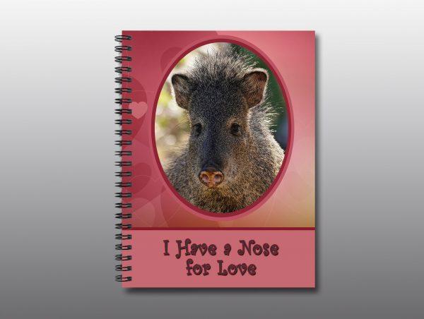 Javelina Valentine Notebook - Moment of Perception Photography