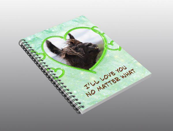 Llama Valentine Notebook - Moment of Perception Photography